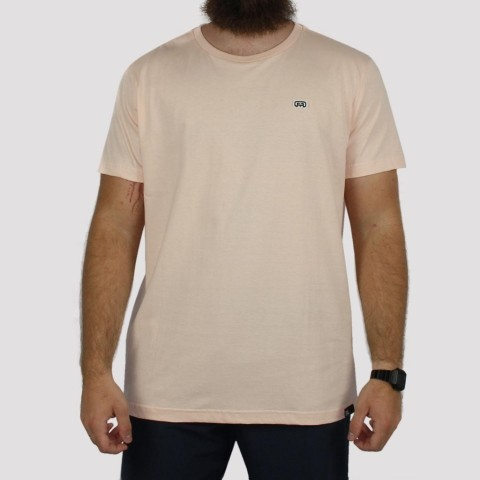 Camiseta Hocks Logo Bordado - Pêssego