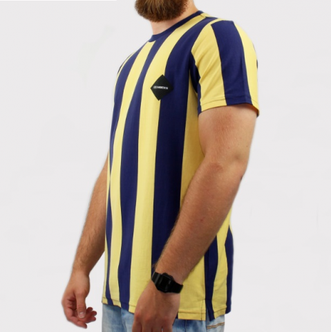 Camiseta Hocks Lolo Listrada - Amarela/Azul