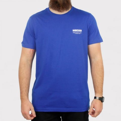 Camiseta Hocks Promo Slogan - Azul Bic