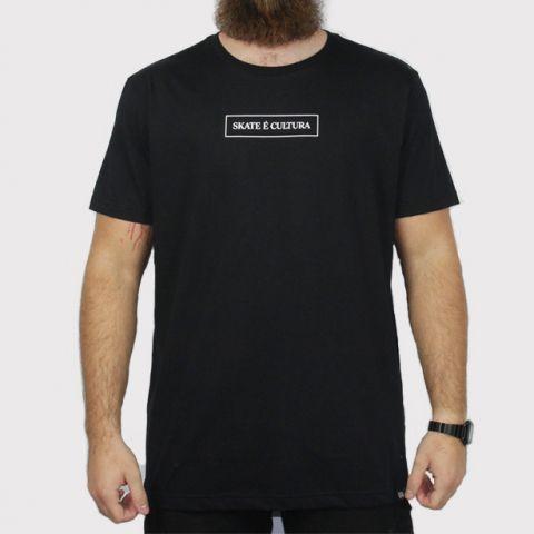 Camiseta Hocks Skate é Cultura - Preta