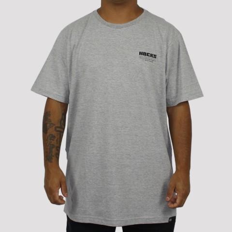Camiseta Hocks Slogan  - Cinza Mescla