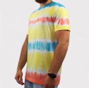 Camiseta Hocks Straye Tie Dye - Amarela/Laranja/Azul/Branca
