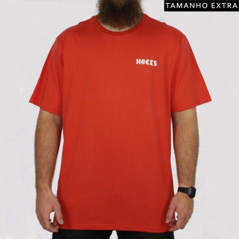 Camiseta Hocks Veia (Tamanho Extra) - Laranja