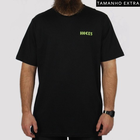 Camiseta Hocks Veia (Tamanho Extra) - Preta