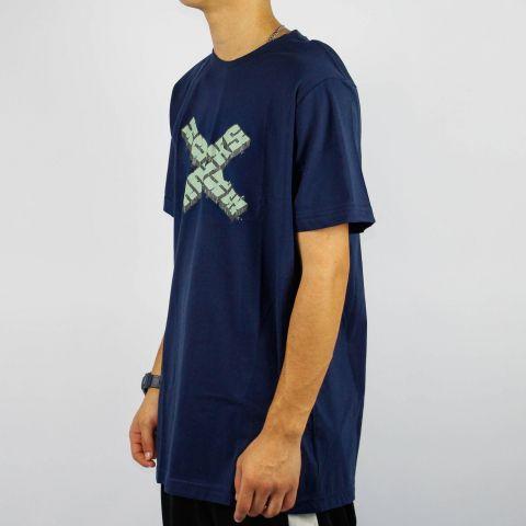 Camiseta Hocks Wall - Azul Marinho