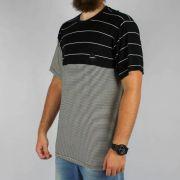 Camiseta Hocks Zebra Listrada Preta/Branca