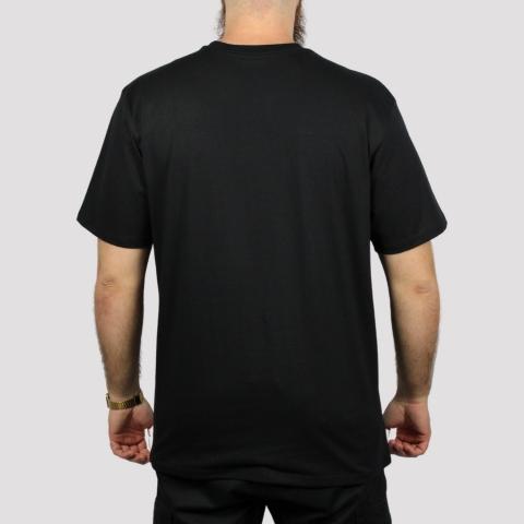 Camiseta HUF Essentials Box Logo - Preto