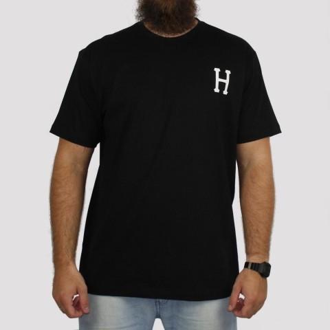 Camiseta Huf Essentials Logo - Preto