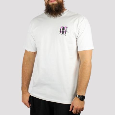 Camiseta HUF Gigas Melted - Branco