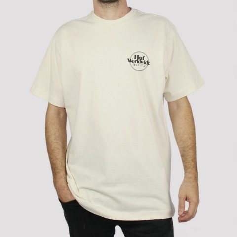 Camiseta Huf Issues - Off White