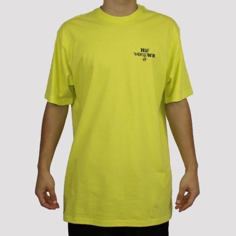 Camiseta Huf Mc Hoods - Neon