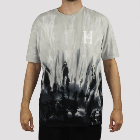 Camiseta Huf Spitfire Classic - Tie Dye Black