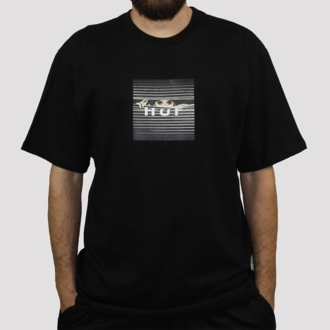 Camiseta Huf Voyeur Boxlogo - Preto