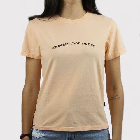 Camiseta Lerrux Baby look Sweeter Than Honey - Salmão
