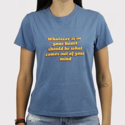 Camiseta Lerrux Baby Look Whatever - Azul