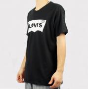 Camiseta Levis Logo - Preta/Branca