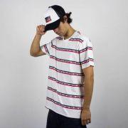 Camiseta Levis Listras Strepped - Branca