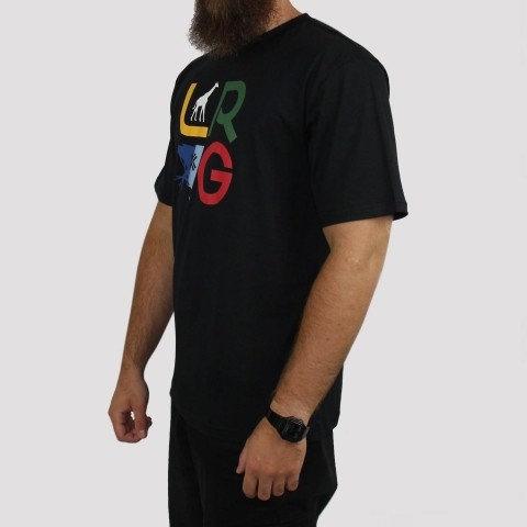 Camiseta LRG Stacked - Preto