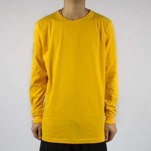 Camiseta Blaze Supply Manga Longa Jah Won't Amarelo/Preto