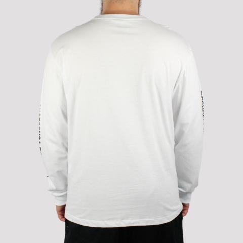 Camiseta Manga Longa DC Shoes Star Sleeve - Branca