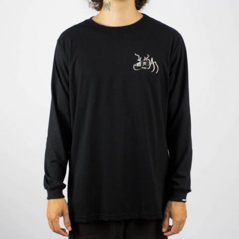 Camiseta Hocks Manga Longa ML Port Formiga Preta