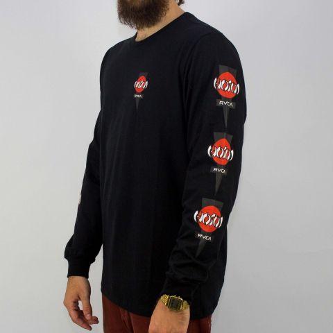 Camiseta RVCA Manga Longa ML Hosoi Preta