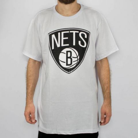 Camiseta NBA  Big Logo Bronet Nets - Branca/Preto