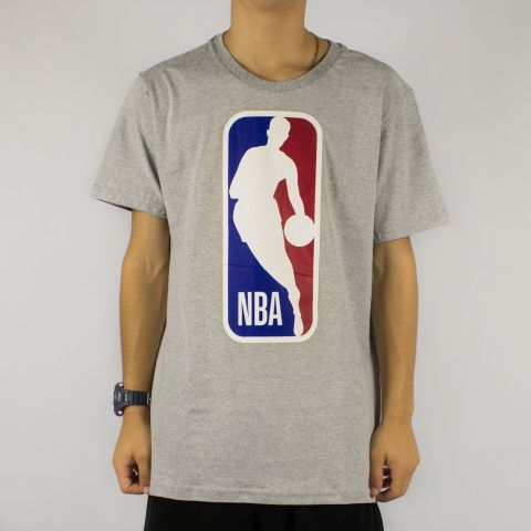 Camiseta NBA Big Logo Man - Cinza