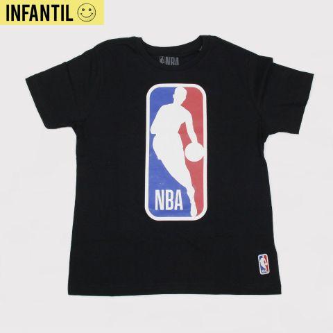 Camiseta NBA Juvenil Big Logo - Preta