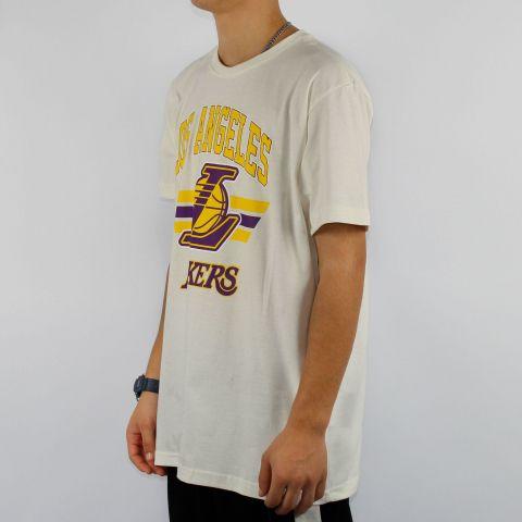 Camiseta NBA Team Arch Lakers - OFF White/Amarela