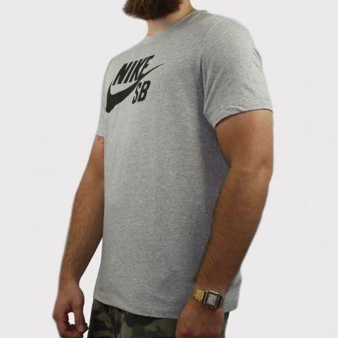 Camiseta Nike SB Dry - Cinza/Preto