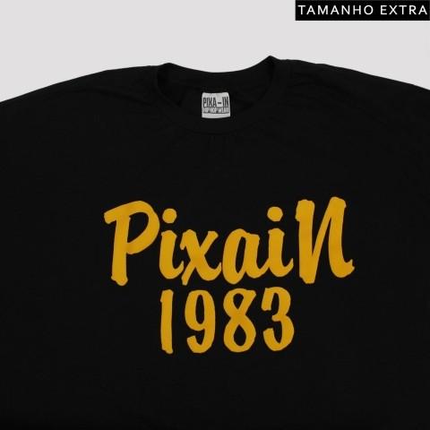 Camiseta Pixa In 1983 - Preta (Tamanho Extra)