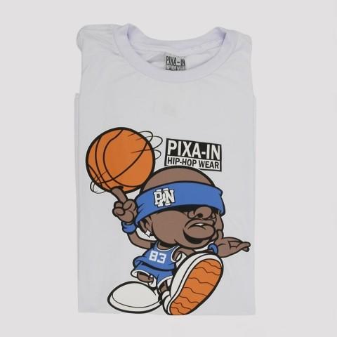 Camiseta Pixa In Basket - Branca (Tamanho Extra)
