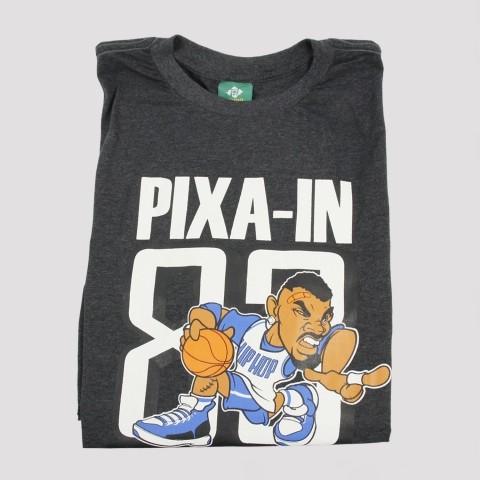 Camiseta Pixa In Basket Man - Mescla Escuro