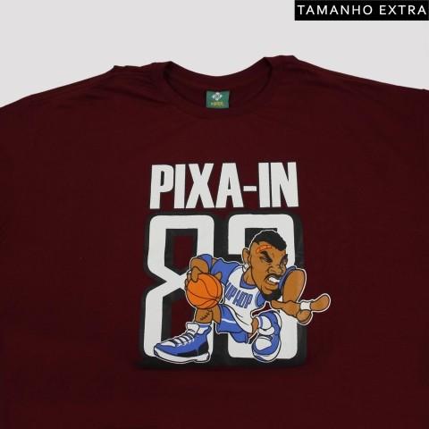 Camiseta Pixa In Basket Man - Vinho (Tamanho Extra)