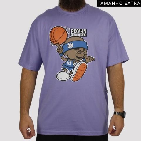 Camiseta Pixa In Basket (Tamanho Extra) - Lilás