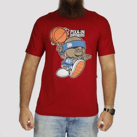 Camiseta Pixa In Basket - Vermelha