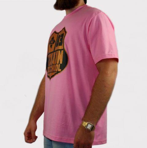 Camiseta Pixa In Brasão Old School - Rosa