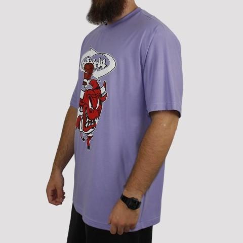 Camiseta Pixa In Bulls (Tamanho Extra) - Lilás