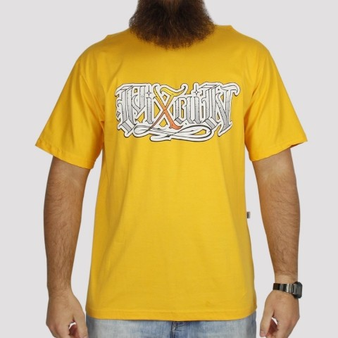 Camiseta Pixa In Caligrafia - Amarelo