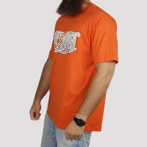 Camiseta Pixa In Caligrafia - Laranja