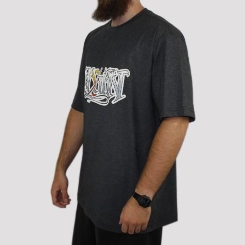 Camiseta Pixa In Caligrafia (Tamanho Extra) - Mescla Escuro
