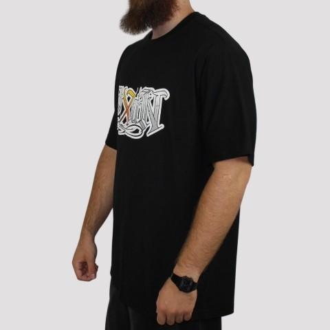 Camiseta Pixa In Caligrafia (Tamanho Extra) - Preto