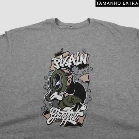 Camiseta Pixa In Grafite Boy - Mescla Claro (Tamanho Extra)