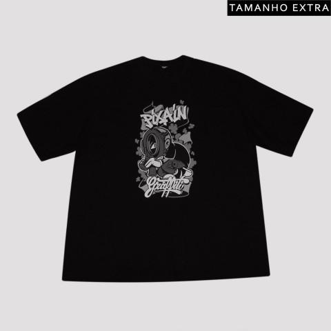Camiseta Pixa In Grafite Boy (Tamanho Extra) - Preta