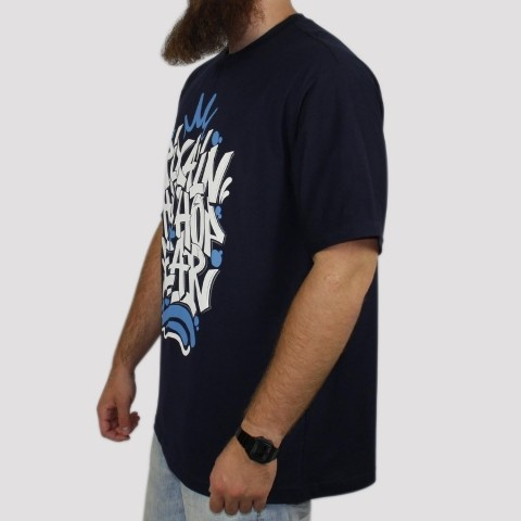 Camiseta Pixa In Hip Hop Wear - Azul Marinho