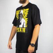 Camiseta Pixa In Infectous Preta/Amarela (Tamanho Especial)