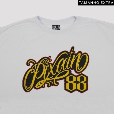 Camiseta Pixa In Logo 3D - Branca (Tamanho Extra)