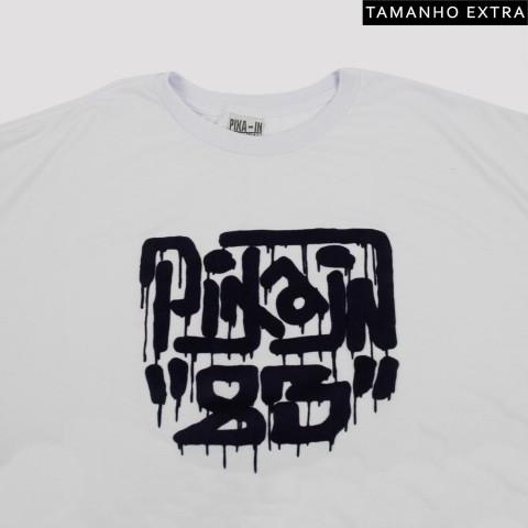 Camiseta Pixa In Logo Fresh Spray - Branca (Tamanho Extra)