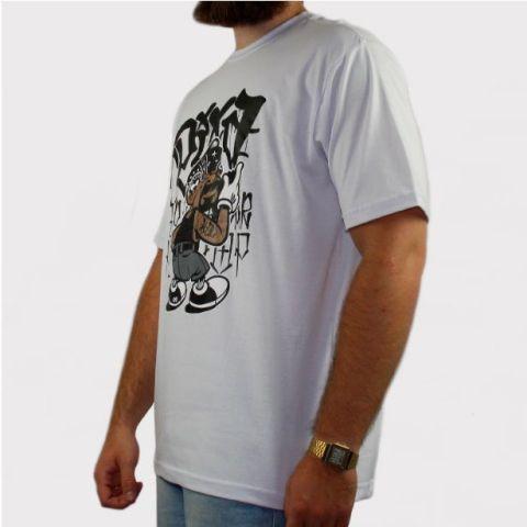 Camiseta Pixa In Mano Fumaça - Branco/Preto